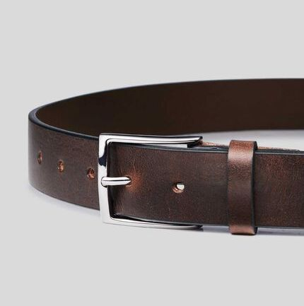 Made in England Leather Chino Belt - Brown