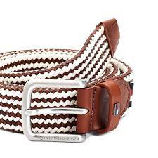 Brushed Buckle Leather Braided Belt