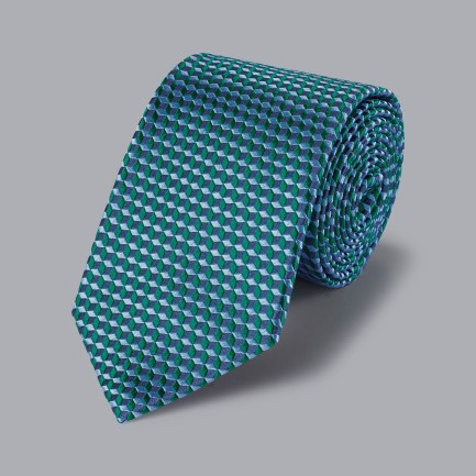 Geometric Cube Tie - Green Geometric Cube Tie - Green
