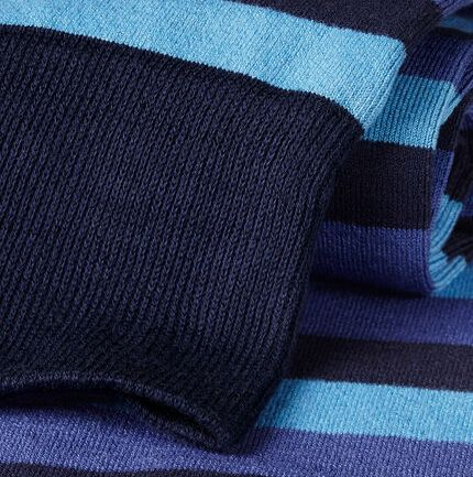 Block Stripe Socks - Blue