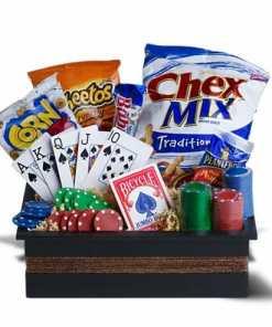 Poker Themed Gift Basket