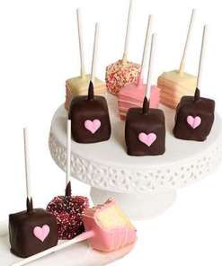 My Heart to Yours Chocolate Covered Cheesecake Pops