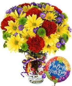 Best Wishes Birthday Flower Bouquet