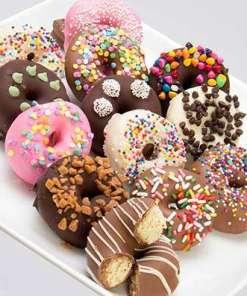 Chocolate Covered Mini Donuts