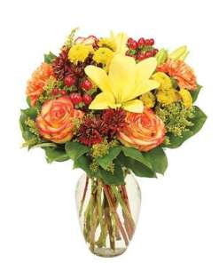 Fall Harvest Flower Bouquet