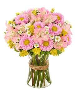 Pink Sunshine Flower Bouquet