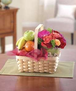 Fruit and Flower Gift Basket 85.99