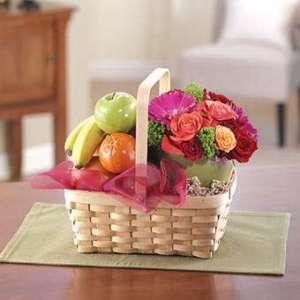 Fruit and Flower Gift Basket 85.99