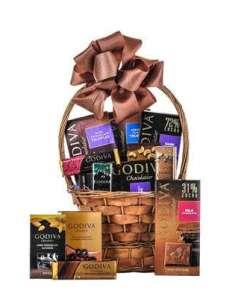 Dream In Godiva Chocolate Gift Basket