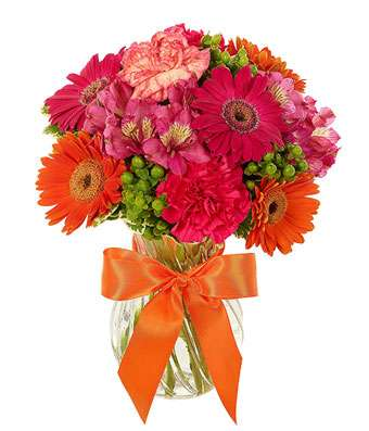 Glorious Orange Flower Bouquet