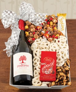 Good Cheer Red Wine Gift Basket