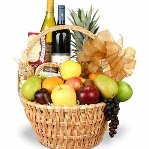 Grand Celebrations Fruit Wine Basket