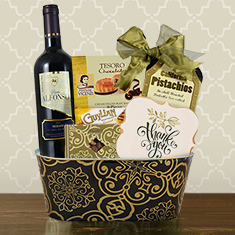 Much Appreciated Red Wine Gift Basket