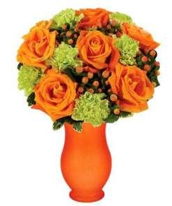 Orange Citrus Rose Bouquet