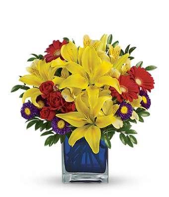 Sunny Blue Caribbean Bouquet