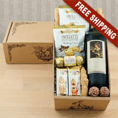 Vino Italian Red Wine Gift Basket