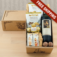 Vino Italian Red Wine Gift Basket