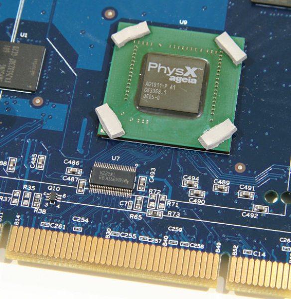 Chip PPU của Ageia - Hình chụp của The Tech Report