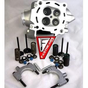 New Honda CRF250 Cylinder Head with Kibblewhite Black Diamond Stainless Steel Valves