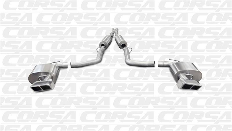 Corsa Extreme Cat-Back Exhaust (Polished): Dodge