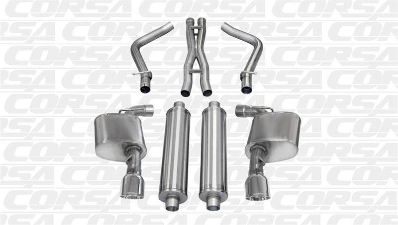 Corsa Extreme Cat-Back Exhaust : 300C / Charger SRT8 2012
