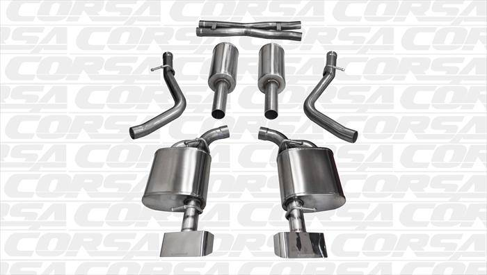 Corsa Xtreme Exhaust System (Polished): Dodge Challenger 5