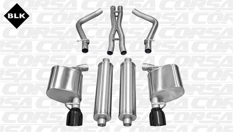 Corsa Extreme Cat-Back Exhaust (Black): 300C / Charger