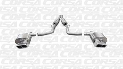 Corsa Sport Exhaust System (Polished): Chrysler 300C