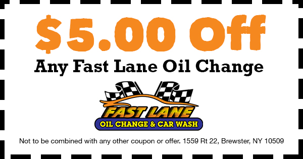 $5 Oil Change Coupon - Fast Lane Oil Change and Car Wash