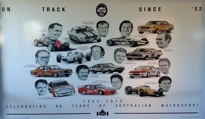 Legends Wall at Sydney Motorsport Park