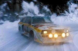 Audi Sport Quattro S1 Sideways Snow