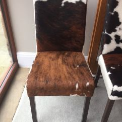 Black And White Cowhide Chair Cozzia Massage Chairs Cow Hide Dining American