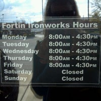 photos at fortin ironworks