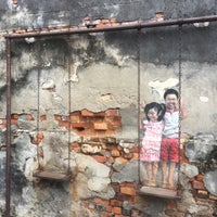 swing chair penang best task street art brother and sister on a 6 tips from 519 photo taken at by taku 目