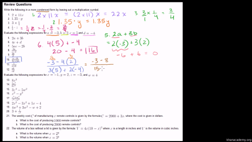 small resolution of Simplifying Algebraic Expressions