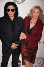 GENE SIMMONS,SHANNON TWEED at the Friars Club honoring Jack Black at NY Hilton 4 5 2013 John Barrett/Globe Photo 2013