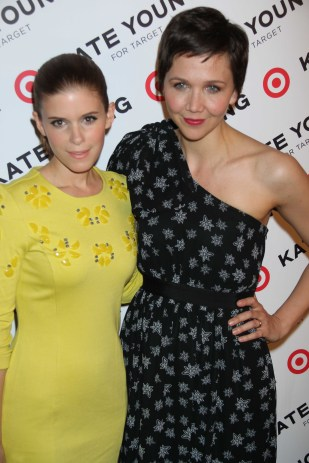 KATE MARA,MAGGIE GYLLENHAAL Target and Kate Young host a private shopping event in celebration of Kate Young for target,before the collection launches in stores and online on april 14 at old school 231 mott st 4 9 2013 Photo by John Barrett/Globe Photo