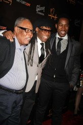 SAM MOORE ,NILE RODGERS,NDABE MANDELS at We Are Family Foundation Honors Sting and Trudie Styler with Humanition award at Manhattan Center Grand Ballroom 4 11 2013 Photo by John Barrett/Globe Photo 2013