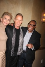 TRUDIE STYLER,STING ,SAM MOORE We Are Family Foundation Honors Sting and Trudie Styler with Humanitarian award at Manhattan Center Grand Ballroom 4 11 2013 Photo by John Barrett/Globe Photo 2013