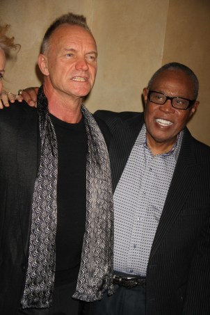 ,STING ,SAM MOORE We Are Family Foundation Honors Sting and Trudie Styler with Humanitarian award at Manhattan Center Grand Ballroom 4 11 2013 Photo by John Barrett/Globe Photo 2013