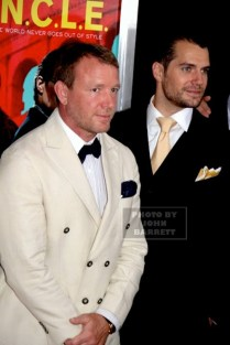 GUY RITCHIE,HENRY CAVILL at Premiere of ''The Man from U.N.C.LE.'' at Ziegfeld Theatre 8-10-2015 John Barrett/Globe Photos 2015