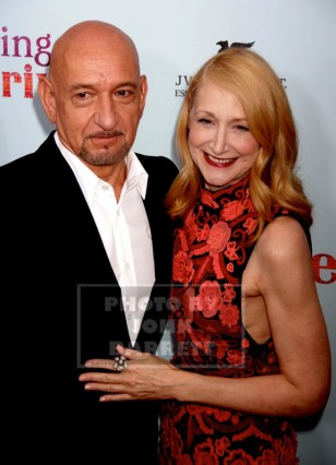BEN KINGSLEY,PATRICIA CLARKSON at NY Premiere of ''Learning to Drive'' at Paris Theatre 4 W.58st 8-17-2015 John Barrett/Globe Photos 2015