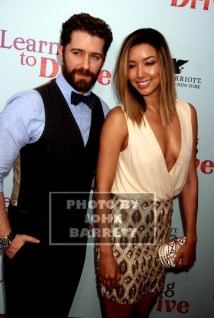 MATTHEW MORRISON,RENEE PUENTE at NY Premiere of ''Learning to Drive'' at Paris Theatre 4 W.58st 8-17-2015 John Barrett/Globe Photos 2015