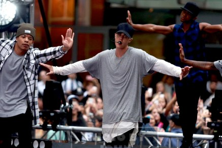 JUSTIN BIEBER Performs on NBC ''Today''Show at Rockefeller Plaza 9-10-2015 John Barrett/Globe Photos 2015