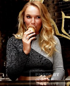 CAROLINE WOZNIACKI is proud to be Godiva brand ambassador for a press and greet and promoting the brand's soft serve ice cream at Godiva store at MetLife Building John Barrett/Globe Photos 8-24-2015