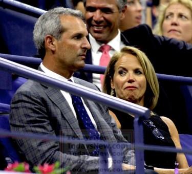 KATIE COURIC,JOHN MOLNER at opening Day at US Tennis Open 8-31-2015 John Barrett/Globe Photos 2015