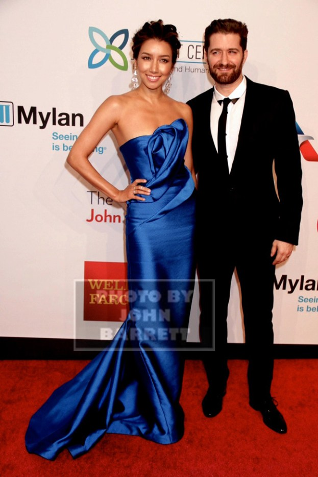 MATTHEW MORRISON,RENEE PUENTE at 14th Annual Elton John Aids Foundation Enduring Vision Benefit at Cipriani Wall St 11-2-2015 John Barrett/Globe Photos 2015