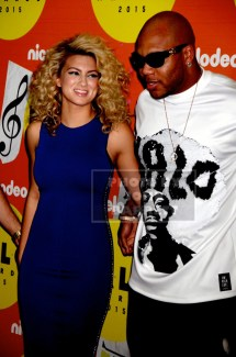 FLO RIDA,TORI KELLY at Nickelodeon HALO awards at Pier 36 south street 11-14-2015 John Barrett/Globe Photos 2015