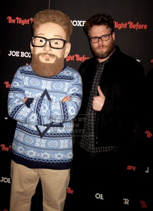 SETH ROGEN at NY Screening of ''The Night Before'' at Landmark sunshine Theatre E.Houston st 11-16-2015 John Barrett/Globe Photos 2015
