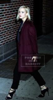 JENNIFER LAWRENCE arriving at ''Late Night with Stephen Colbert'' 12-14-2015 John Barrett/Globe Photos 2015